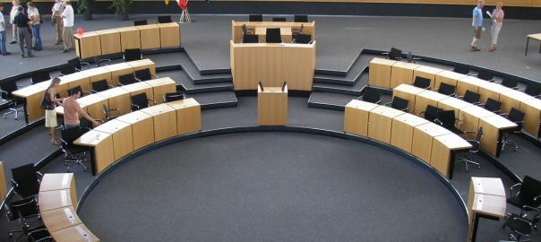Plenarsaal des Thüringer Landtages.
