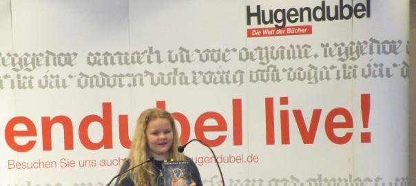 Lucie Klingenberg beim Vorlesewettbewerb 2016