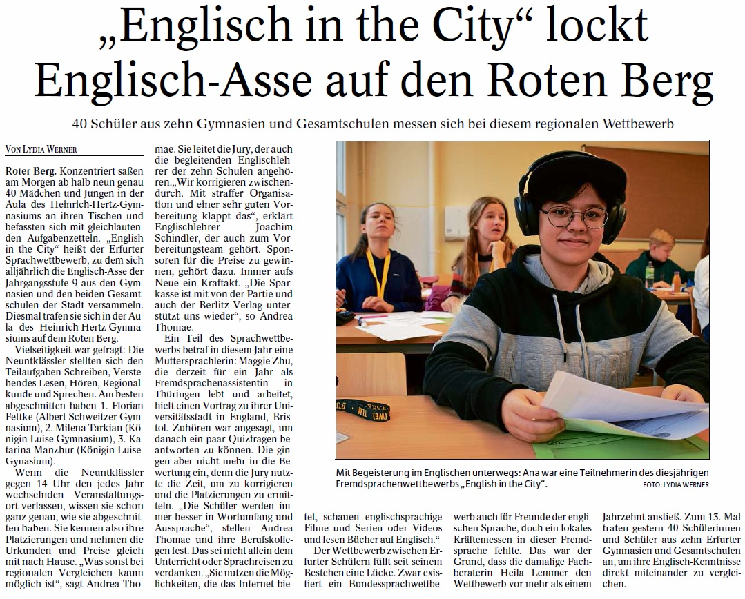 English in the City TA